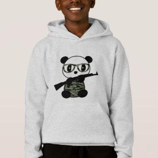 Sweat - shirt à capuche militaire d'ours panda de