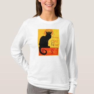 Sweat - shirt à capuche Noir de dames de chat noir