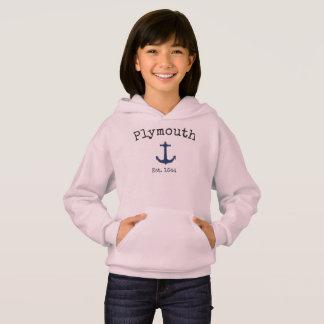 Sweat - shirt à capuche rose de Plymouth le