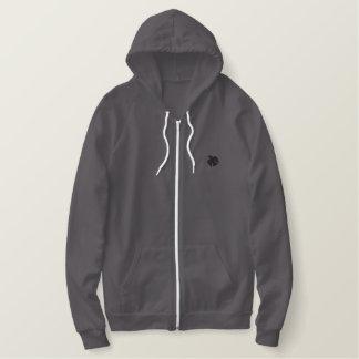 Sweat - shirt à capuche thermique d'ouatine de sweatshirt à capuche avec brodé