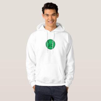 Sweat - shirt à capuche vert de coup de bouton