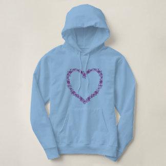 Sweatshirt à capuche collection coeur