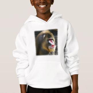 Sweatshirt à capuchon de babouin