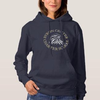 Sweatshirt à capuchon de la marine des femmes