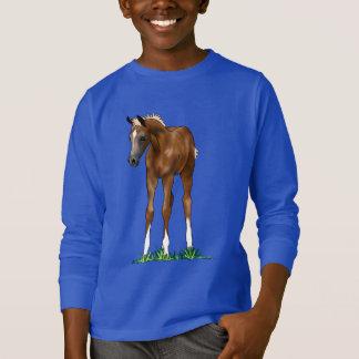 Sweatshirt à capuchon d'enfants de poulain Arabe