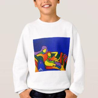 Sweatshirt Amour abstrait par Piliero