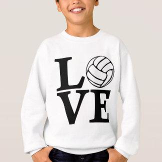 Sweatshirt AMOUR de volleyball, noir