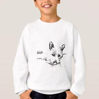 Sweatshirt Amour de Westies, dessin noir et blanc