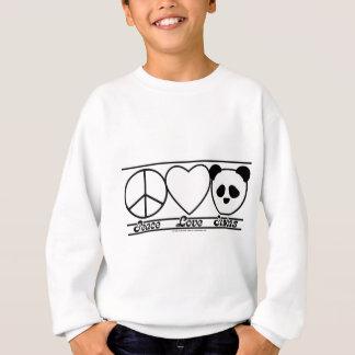 Sweatshirt Amour et pandas de paix