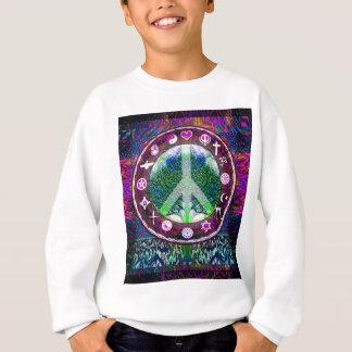 Sweatshirt Arbre de paix de religions du monde de mandala de