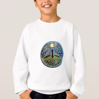 Sweatshirt Arbre étoilé des chemises de mandala de la vie