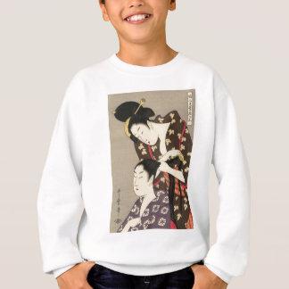 Sweatshirt Art d'Utamaro Yuyudo Ukiyo-e de la coiffure des