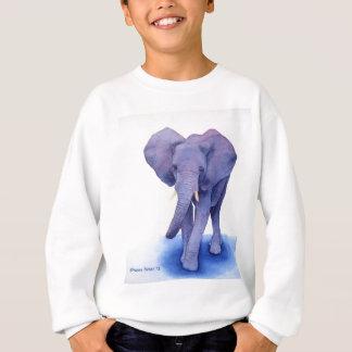 Sweatshirt art pourpre d'aquarelle d'éléphant sur les