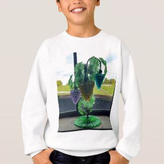 Sweatshirt Art vintage turquoise en verre de vigne de