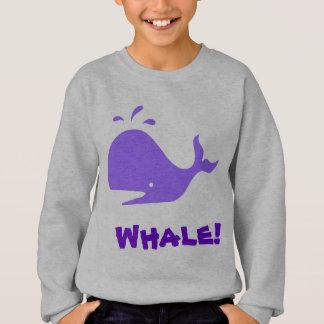 Sweatshirt Baleine ! Pourpre. Personnalisable