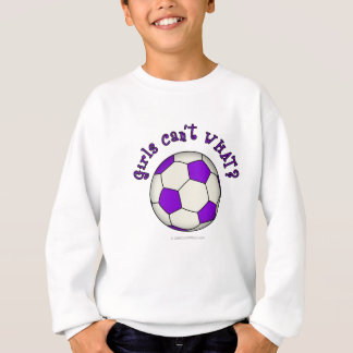 Sweatshirt Ballon de football dans le pourpre