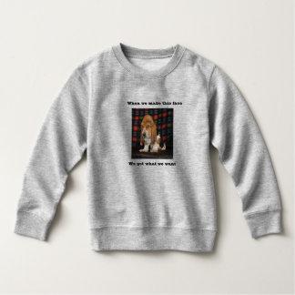Sweatshirt Basset Hound d'enfant en bas âge