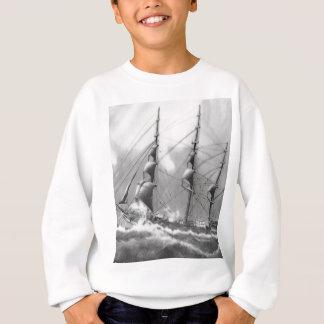 Sweatshirt Bateau à voile en noir et blanc sur de hautes mers