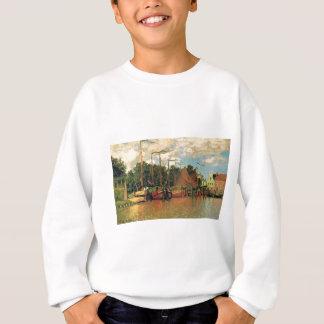 Sweatshirt Bateaux à Zaandam par Claude Monet