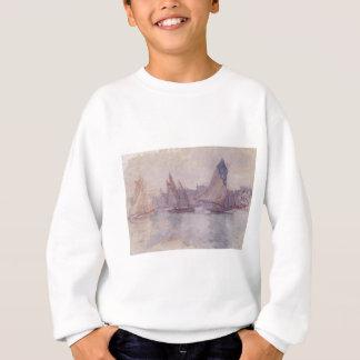 Sweatshirt Bateaux dans le port du Havre par Claude Monet