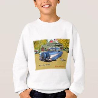 Sweatshirt Bleu 1957 classique de Chevrolet de voitures de