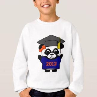 Sweatshirt Bleu marine de panda de fille et diplômé 2012
