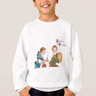 Sweatshirt Bougie Apple de citrouille de Jack-o'-lantern