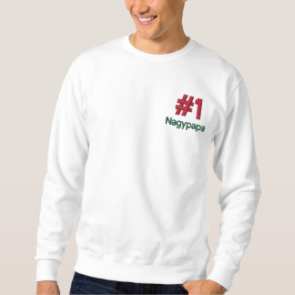 Sweatshirt Brodé Chemise brodée par coutume de #1 Nagypapa