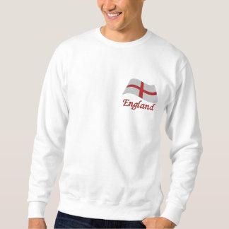 Sweatshirt Brodé Drapeau de St Georges de l'Angleterre