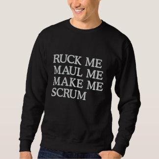 Sweatshirt Brodé La mêlée je me malmènent me font l'humour de rugby