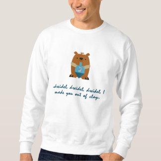Sweatshirt Brodé Sweatshirt. brodé de Dreidel Hanoukka
