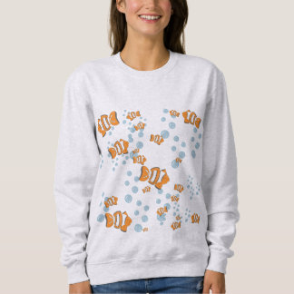 Sweatshirt Bulles de poissons et d'air de clown