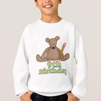 Sweatshirt Cadeaux d'anniversaire d'ours d'anniversaire 9èmes