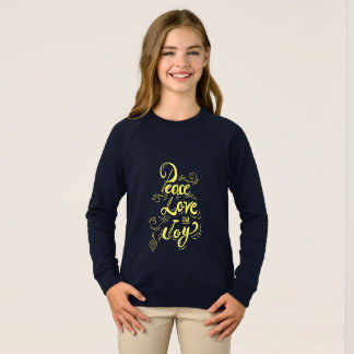 """Sweatshirt Cadeaux de Noël de Noël """"de joie d'amour de paix"""""""