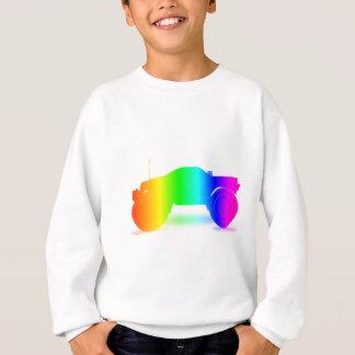 Sweatshirt Camion de monstre d'arc-en-ciel
