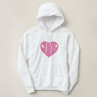 Sweatshirt capuche collection coeur rose