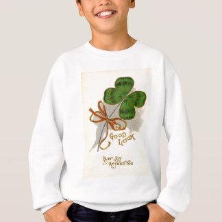 Sweatshirt Carte du jour de St Patrick de trèfle de feuille