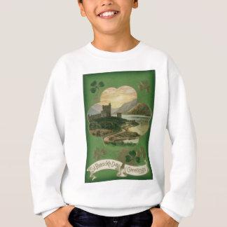 Sweatshirt Carte vintage du jour de St Patrick de château de