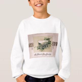 Sweatshirt Carte vintage du jour de St Patrick de shamrock de