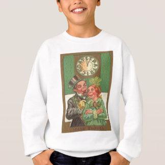Sweatshirt Carte vintage du jour de St Patrick irlandais de