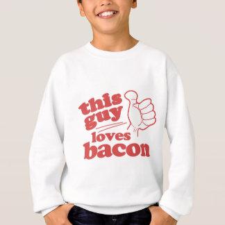 Sweatshirt Ce type aime le lard