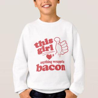 Sweatshirt Ces type/fille aime le lard