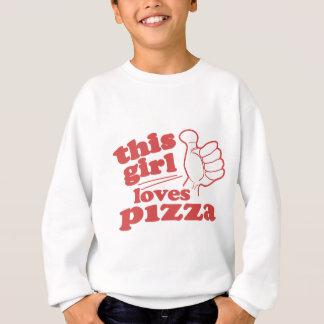 Sweatshirt Cette fille aime la pizza