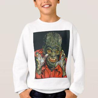 Sweatshirt chandail monstre masc blanc