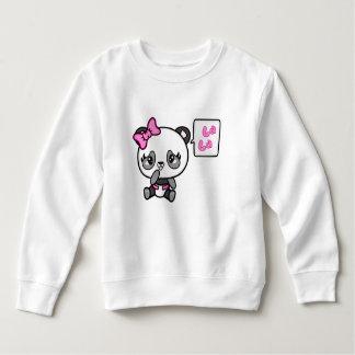 Sweatshirt Chandail rosâtre d'enfant en bas âge d'ouatine de