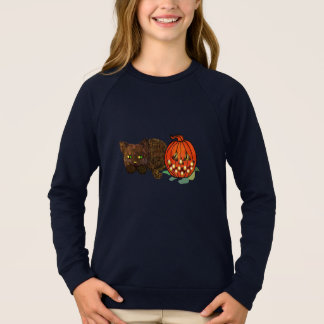 Sweatshirt Chat de citrouille