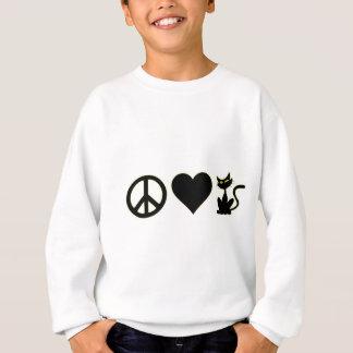 Sweatshirt Chats d'amour de paix