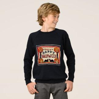 Sweatshirt Chats noirs de citrouilles heureux vintages de