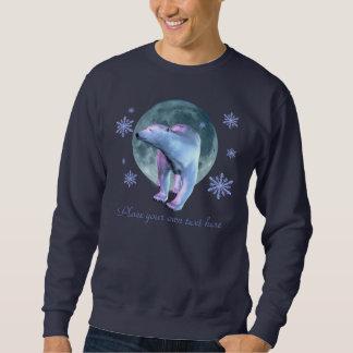 Sweatshirt Chemise de lune d'ours blanc