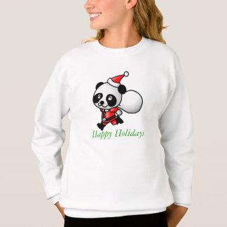 Sweatshirt Chemise de Père Noël de panda